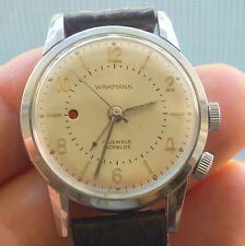 Vintage Wakmann Alarm Old Watch 17 Jewels Incabloc made in France Military ??