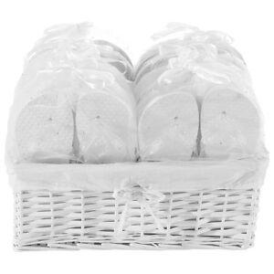 Zohula Weiß Hochzeit Flip Flops Premium Partypaket - 20 Paare 3xS 12xM 5xL