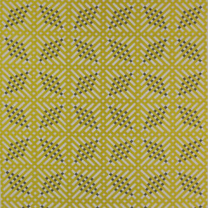 Baldwin Yellow & Grey By Larsen (Colefax & Fowler) Geometric Fabric - 4.4m Piece
