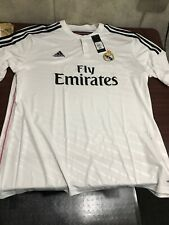 """REAL MADRID """"ADIDAS"""" AUTHENTIC SOCCER JERSEY 2XL NWT WHITE """"FLY EMIRATES"""""""