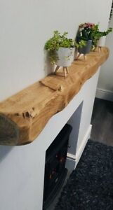 Wooden mantel mantle mantelpiece fireplace fire surround floating shelf rustic .