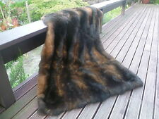 New Zealand Possum Natural Brown Fur Lap Rug / Throw