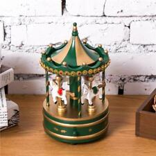 Carousel Music Box Wind Up Toy Kids Christmas Gift Table Home Decor