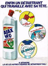 PUBLICITE ADVERTISING 064  1980  AJAX   liquide épais WC détartrant