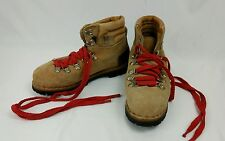 Vintage Kinney Colorado Brown Heavy Leather Hiking Boots Vibram Sole Mens 6.5