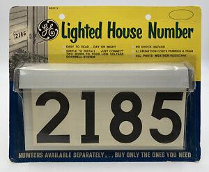 Vintage General Electric GE Lighted House Number NOS Mid Century Modern 20-2905