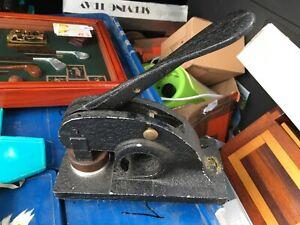 Vintage Metal Letter Press Machine Embossing Address Stamp Seal engraver