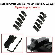 10x Tactical Offset Side Rail Mount Picatinny Weaver Angle Scope Sight 45 degree