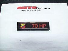 Scritta stemma sigla logo Autobianchi A112 Abarth 70 HP cofano