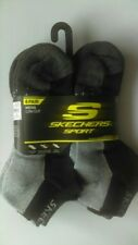 Skechers Men's Low cut 6 Pair Socks in Black/Gray Size 10-13 Shoe Size 6-12