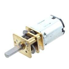 MA DC-Getriebemotor Minderer Elektrisch M20 12V 0.06A 80RPM 5Kg.cm Silber + Gold