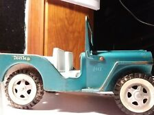Vintage Mound Minn Original Tonka Jeep Teal 1960's movable winshield.