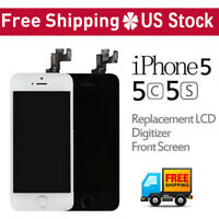 For iPhone 5C 5S 5 LCD Replacement Touch Screen Digitizer Assembly With Button