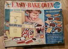 VINTAGE 1964 Kenner's EASY BAKE OVEN BOX w/ACCESSORIES/COOKBOOK WORKS! #1600