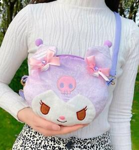 Kuromi purple bling shoulder bag musette bag Cycling bags handbag fashion