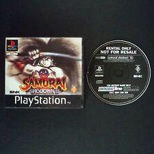 SAMURAI SHODOWN 3 PlayStation UK PAL English・♔・BLOCKBUSTER RENTAL complete PS1