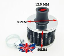 Round Crank Case Engine Breather Air Filter Car Motorcycle Quad Bike 12MM BLACK