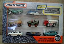 MATCHBOX 9-PACK SET EXCLUSIVE VEHICLES JEEP POLICE & WATER WORKS DYX02 2016 *Nu*