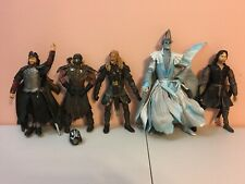 Lord of the Rings Lot 5 action figures King Aragorn Ringwraith Eomer Haradrim