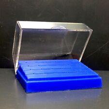 10 Pack Dental Plastic FG Bur Holder Block Case for 1.6mm Drills Box ITS