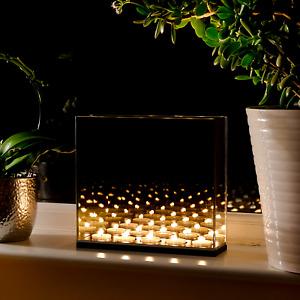 Tea light Infinity Candle Mirror Box Decorative Optical Mirror Illusion M&W