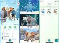 Pokemon Account - with Regi Trio - Registeel, Regice & Regirock !!