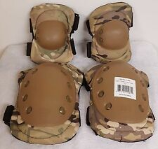 Advanced Elbow and Knee Pads Multicam Camo Water Resistant Airsoft Paintball