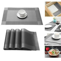 Set of 4 PVC Place Mats Kitchen Dining Table Placemats Non-Slip Washable Modern