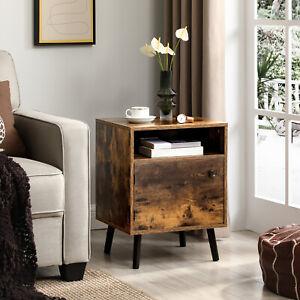 Nachttisch, Beistelltisch mit offenem Fach, Nachtschrank vintage LET170B01