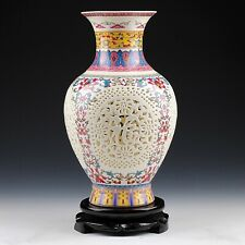 Ceramic Vase Vintage Chinese Antique Style Painted Art Home Decoration Gift Idea