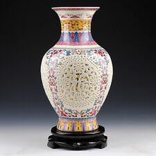 Ceramic Vase Vintage Chinese Antique Style Painted Art Home Decoration Gift Idea