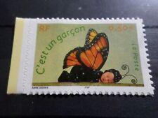 France 2004, Stamp Sticker 3635 (41) Birth Boy Butterfly New MNH