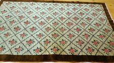 Authentic c1900-1939s Antique Henna Dyes Wool 4x6ft Nomad Wool Pile Rug