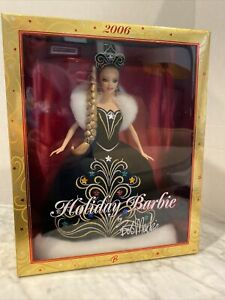 2006 Mattel BOB MACKIE HOLIDAY BARBIE Christmas Winter Fashion Doll NRFB J0949