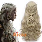 Long Blonde Cosplay Moive Wig for Game of Thrones Daenerys Targaryen Khaleesi
