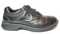 ECCO Light Lace Up Shock Point Black Leather Oxford Shoes Mens EUR 43 US 10