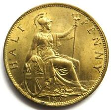 More details for 1897 queen victoria half-penny coin high grade - great britain
