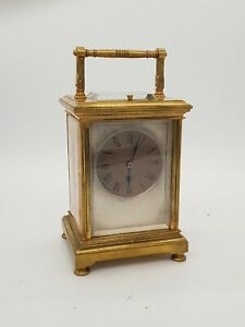 Painted Panel Repeat Carriage Clock PATENT SURETY ROLLER