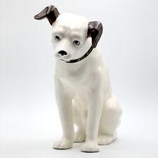 "Vintage Nipper Dog Rca Corp. 9"" Tall Ceramic Figurine by Sarsaparilla Japan"