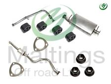discovery td5 exhaust system complete system discovery de cat + exhaust system
