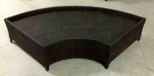 Frontgate Malibu Outdoor Patio Sofa Wicker Sofa Sectional Round Ottoman FRAME