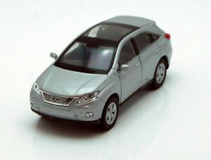 WELLY LEXUS RX 450h 1:34-1:39 Scale DIE CAST METAL CAR MODEL SILVER 4.5 inch