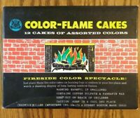 "9 VINTAGE COLOR-FLAME CAKES with Box ""Fireside Color Spectacle"" FREE SHIPPING"
