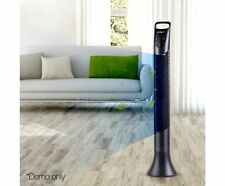 Portable Upright Fan Bladeless Tower Fan Cool Air Summer Breeze Remote Black NEW