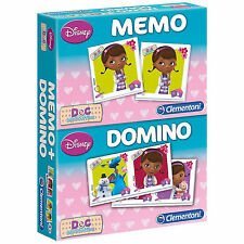 DISNEY jeu éducatif MEMO + DOMINO Doc McStuffins Doc la peluche  NEUF