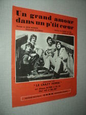 LE CRAZY HORSE PARTITION MUSICALE BELGE LE GRAND AMOUR DANS UN P'TIT 4 PAGES