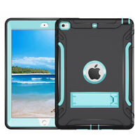 For iPad 2/3/4  Mini 1/2/3 Pro 9.7 Shockproof Rugged Rubber Silicone Case Cover
