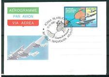 ITALIA REP. - Aerogrammi - 1980 - TRASVOLATA ATLANTICA con ann. speciale - (B)