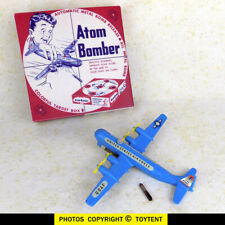 Atom Bomber blue WWII air force plane & bomb Thomas Toys working ... SEE MOVIE!