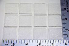 "12 Clear 1"" x 1"" - 3mm Toppers Caps Squares Of Bullseye Glass 90 Coe"